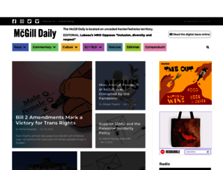 mcgilldaily.com screenshot