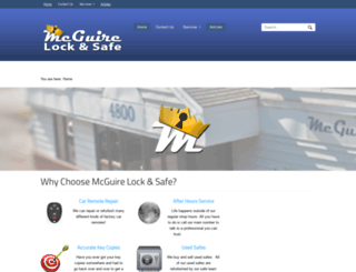 mcguirelocksmith.com screenshot