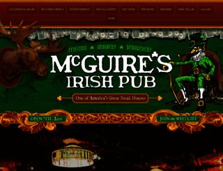 mcguiresirishpub.com screenshot