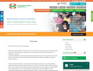 mci.damsdelhi.com screenshot