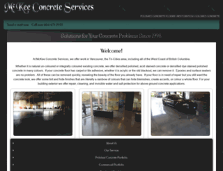 mckeeconcreteservices.com screenshot