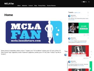 mcla.laxallstars.com screenshot