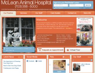 mcleananimalhospital.vetsuite.com screenshot