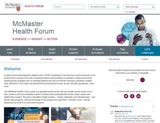 mcmasterhealthforum.org screenshot