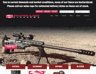 mcmillanfirearms.com screenshot