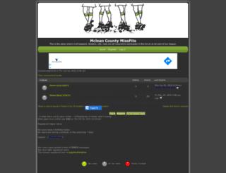 mcmissfits.forumotion.com screenshot
