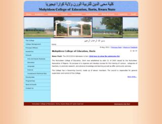 mcoed.edu.ng screenshot