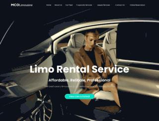 mcolimousine.com screenshot