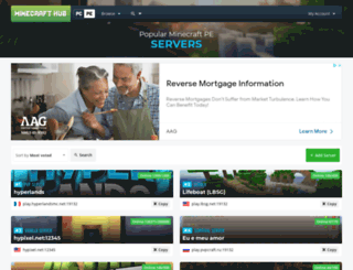 mcpeservers.com screenshot