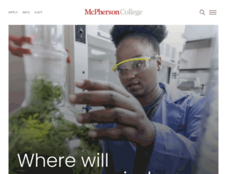 mcpherson.edu screenshot