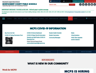 mcpsmd.org screenshot