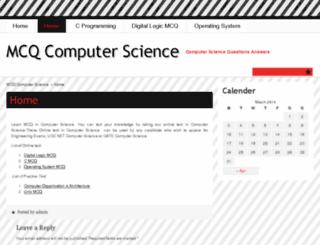 mcqcomputerscience.com screenshot