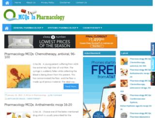 mcqsinpharmacology.com screenshot