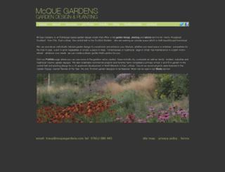 mcquegardens.com screenshot
