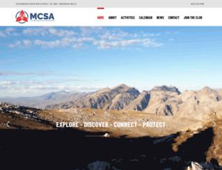 mcsa.org.za screenshot