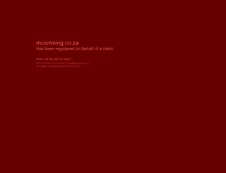 mcsmining.co.za screenshot