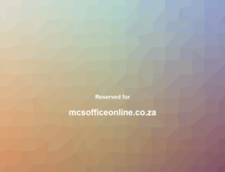 mcsofficeonline.co.za screenshot