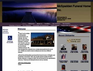 mcspaddenfuneralhomes.com screenshot