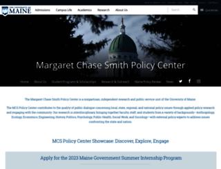 mcspolicycenter.umaine.edu screenshot