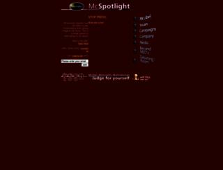 mcspotlight.org screenshot