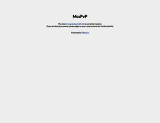 mcspvp.buycraft.net screenshot