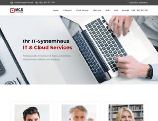 mcssysteme.de screenshot