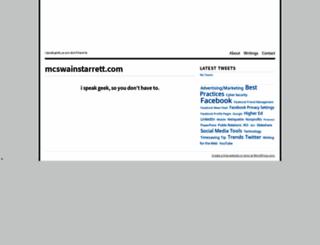 mcswainstarrett.com screenshot