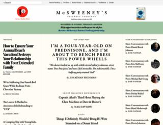 mcsweeneys.net screenshot