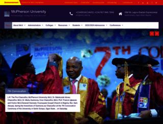 mcu.edu.ng screenshot