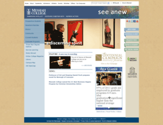 mcweb.messiah.edu screenshot