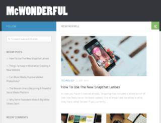 mcwonderful.com screenshot