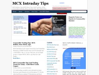 mcx-intraday-tips.blogspot.in screenshot
