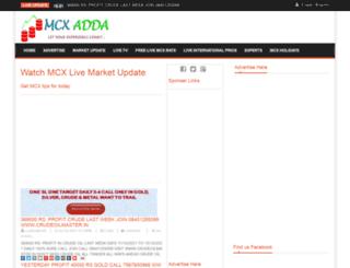 mcxadda.com screenshot