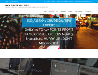 mcxcrudeoiltips.co.in screenshot