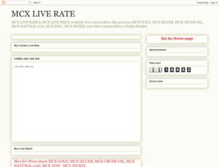 mcxlive-price.blogspot.in screenshot