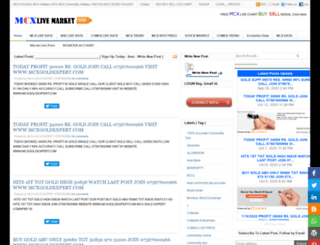 mcxlivemarket.com screenshot