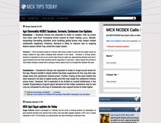 mcxtipscalls.blogspot.com screenshot