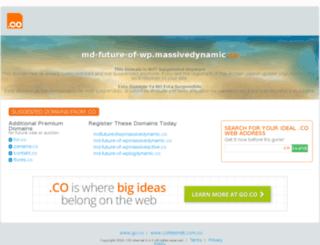 md-future-of-wp.massivedynamic.co screenshot