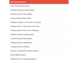 md-weddingplanner.com screenshot