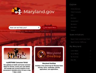 md.gov screenshot