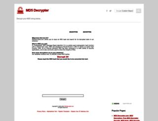 md5decrypter.com screenshot