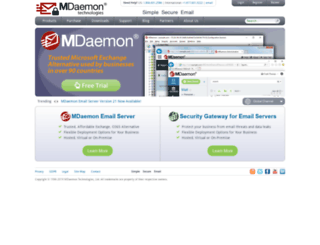 mdaemon-mail-server.com screenshot