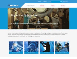 mdaturbines.com screenshot