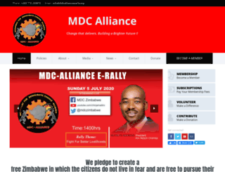 mdc.co.zw screenshot