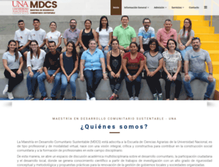 mdcs-una.org screenshot