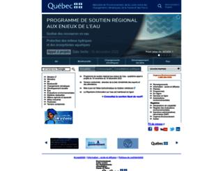 mddep.gouv.qc.ca screenshot