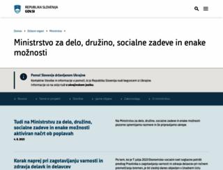 mddsz.gov.si screenshot