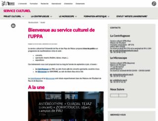 mde-culture.univ-pau.fr screenshot
