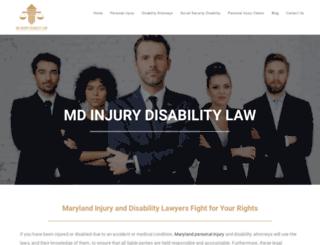 mdinjurydisabilitylaw.com screenshot