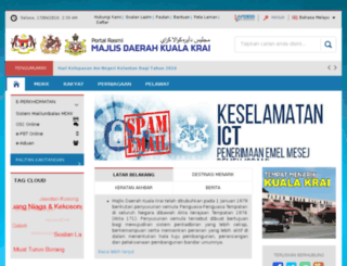 mdkkrai.gov.my screenshot